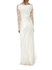 Alberta Ferretti Bias Silk and Lace Gown