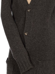 Grey Dolce & Gabbana Long Knit Cardigan