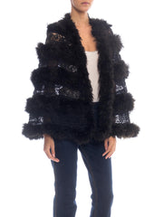 Victorian Lace and Ostrich Feather Cape