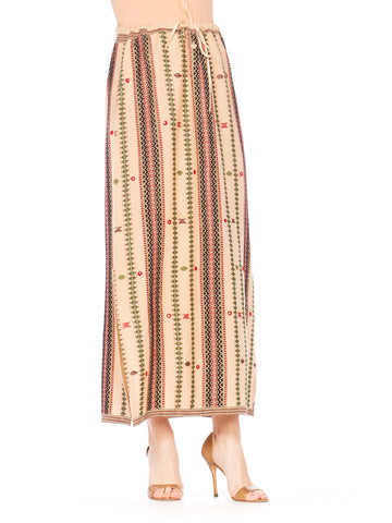 Woven Skirt With Mirrors