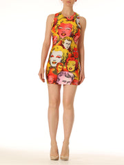 1990s Gianni Versace Warhol Marilyn and James Dean Bodycon Dress
