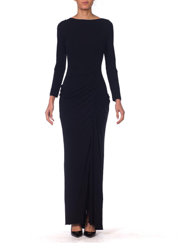 1990s Badgley Mischka Draped Jersey Gown