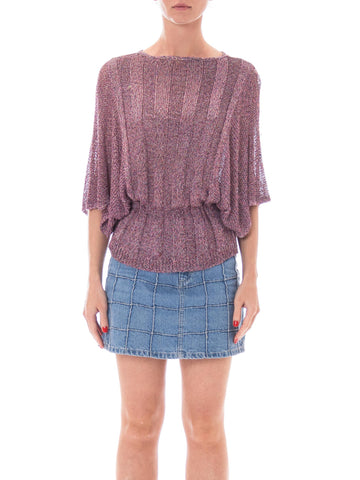 1970s Missoni Lilac Dolman Sleeve Knit Sweater