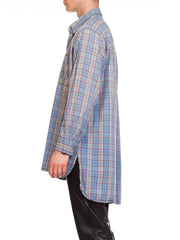 Men's Plaid Tunic Shirt