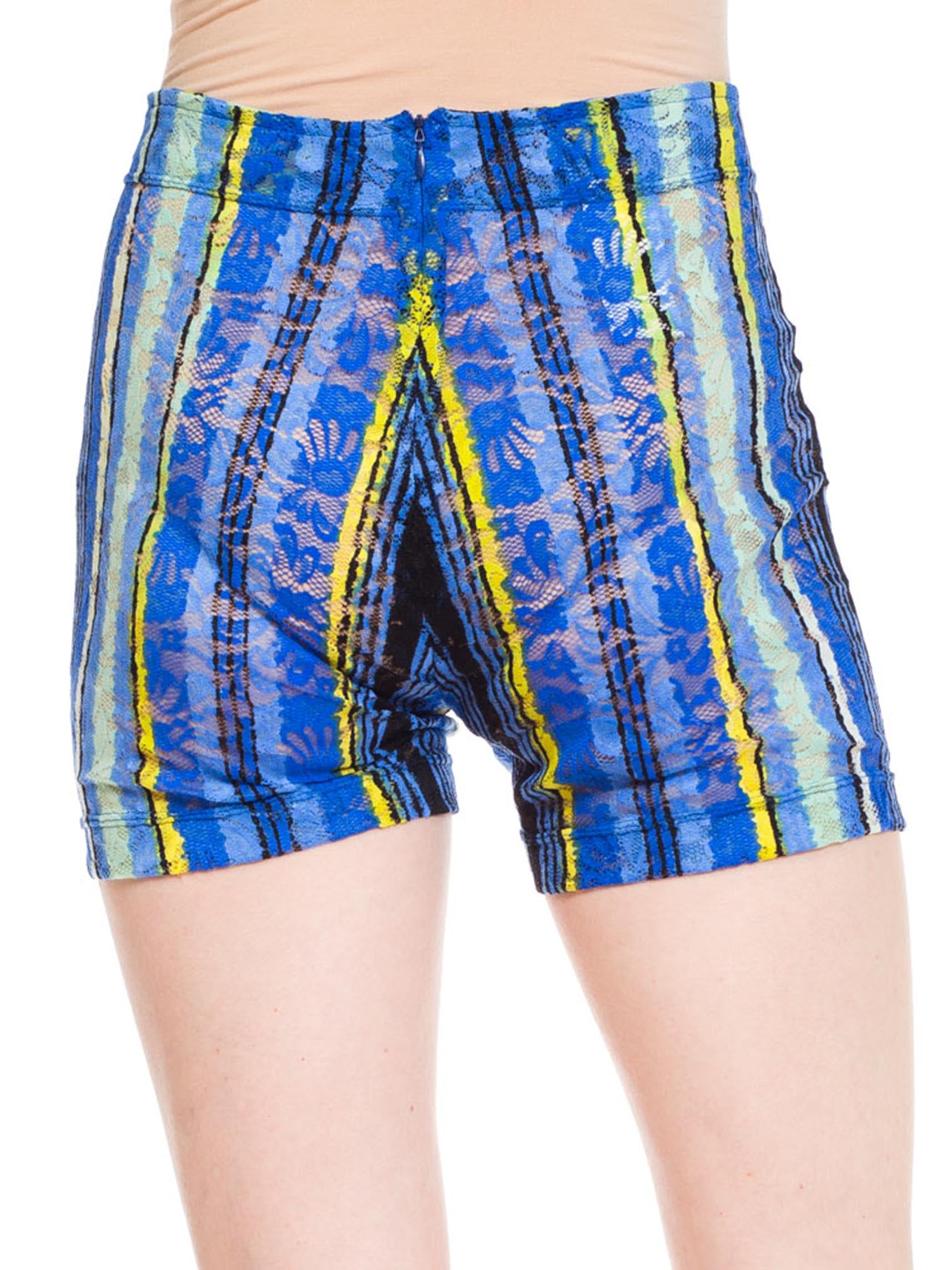 Gianni Versace Striped Lace Bike Shorts