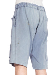 French Workwear Shorts With Elastic Waist