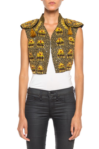 Embroidered and Beaded Matador Style Vest