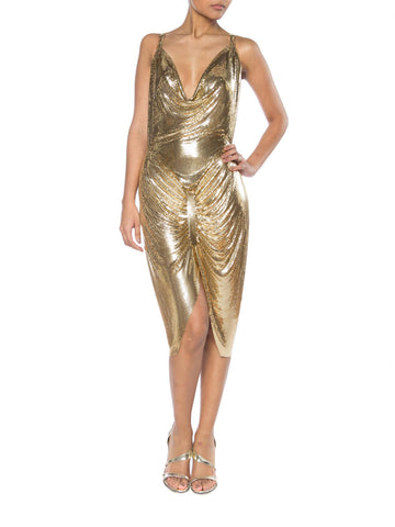Gold Metal Mesh Dress