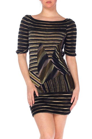 Missoni Boatneck Pieced Sweater Dress