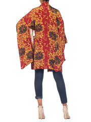 Light Weight Silk Jewel Tone Japanese Kimono