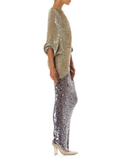 1970s or 1980s Enrico Coveri Knit Sequin Fish Scale Mermaid Dress