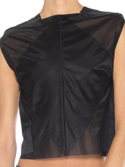 Martin Margiela Black And Sheer Top