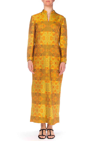 1960s Adele Simpson Chinese Inspired Dress