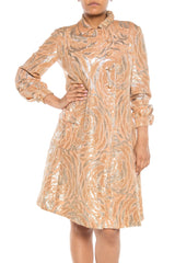 Gold and Silver Brocade 1960s Coat
