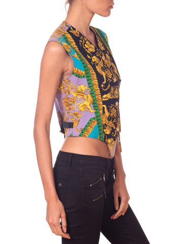 1990S GIANNI VERSACE Versus By Baroque Buckle Vest