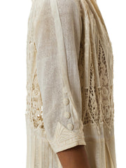 1910s Embroidered Lace Edwardian Duster