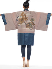 Mens Japanese Kimono With HAnd Painted Fighting Dragons