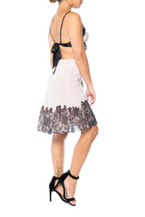 Silk and Victorian Lace Slip Dress