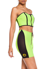 Bodyglove Neoprene Strapless Zip Up Two Piece Set
