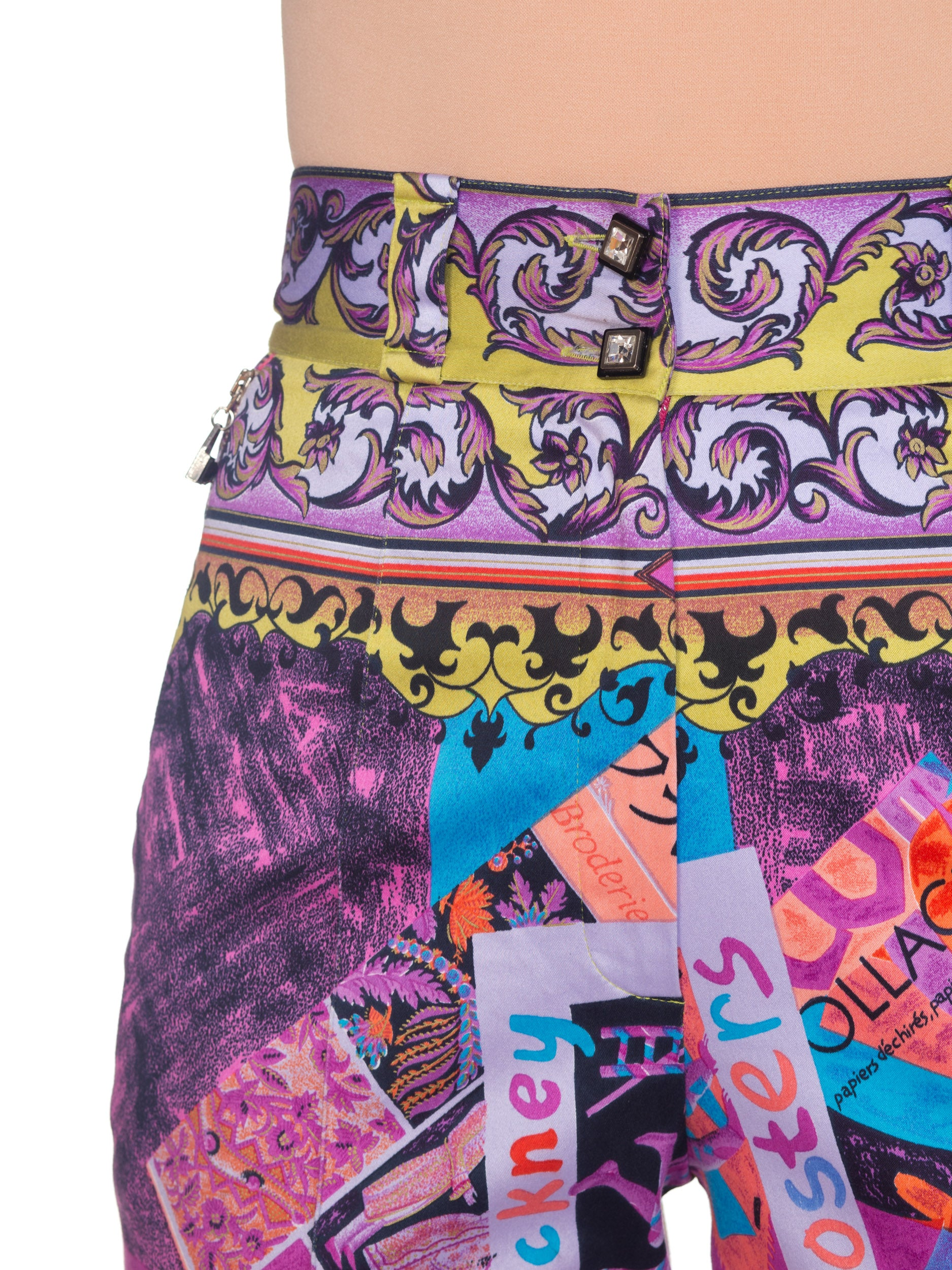Gianni Versace Spring 1991 Picasso Hockney Artist Print Pants