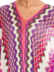 1970 Missoni 3-Way Wear Scarf Top with Fringe
