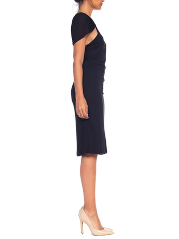 1990S Tom Ford Gucci Black Jersey Dress