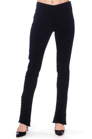 Ralph Lauren Black Stretch Button Ankle Riding Pants
