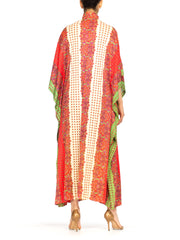 1970s Ethnic Paisley Button Up Kaftan