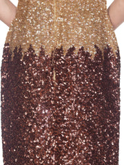 1950s Champagne Sequin Cocktail Dress owned by Vivenne Della Chiesa