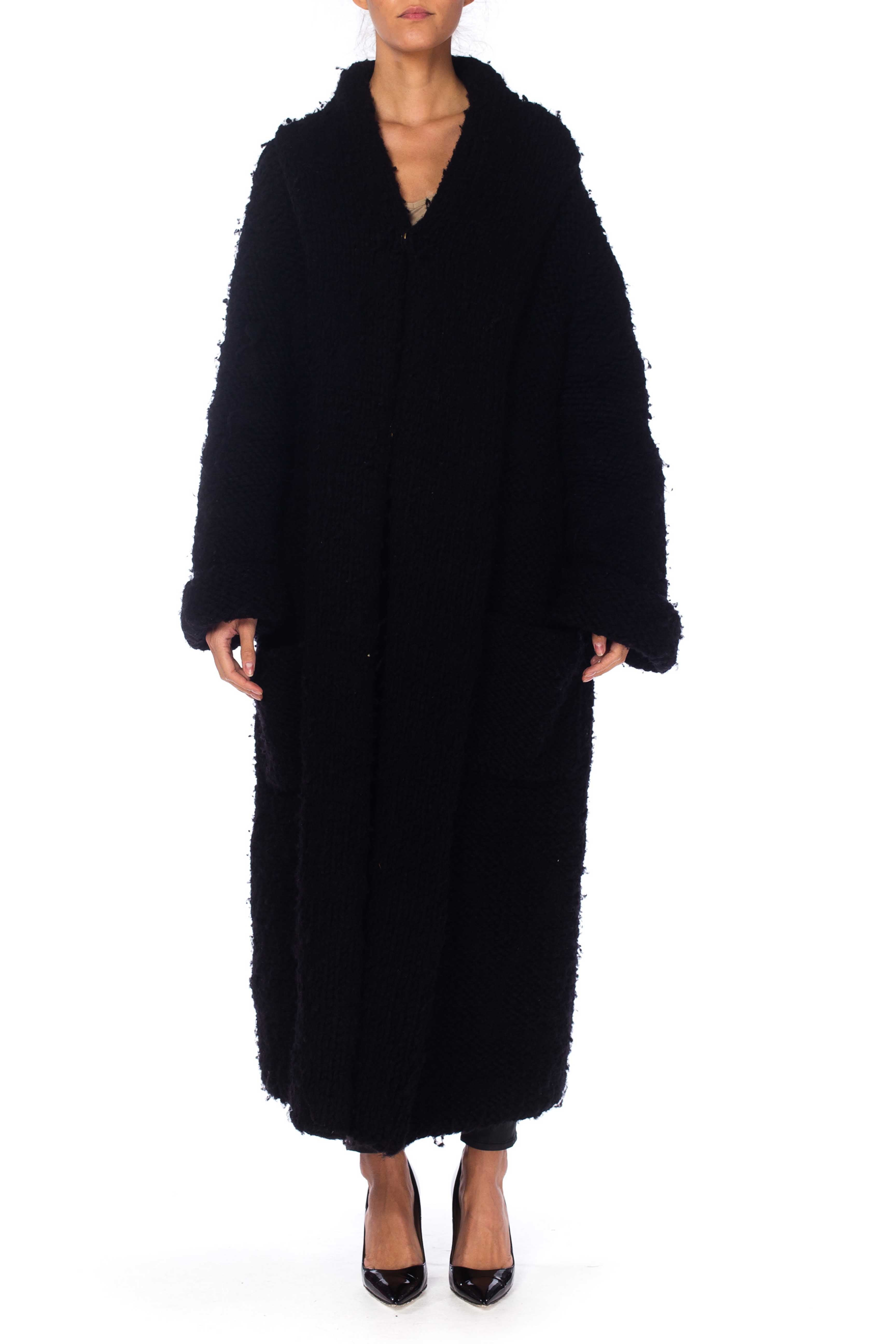 Chunky Deconstructed Knit Avant Garde Belgian Sweater Coat