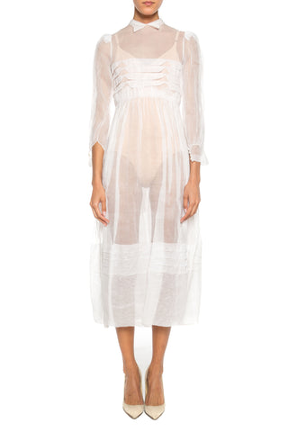 French Couture Organdy Dress