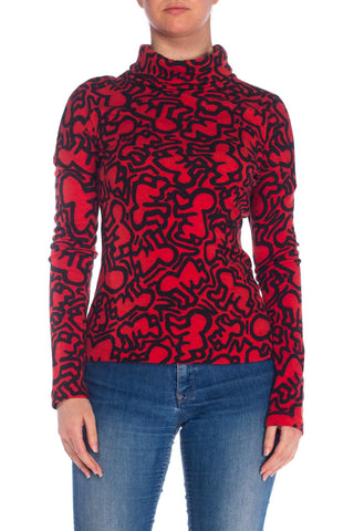 1988 Castelbajac Keith Hering Wool Turtleneck
