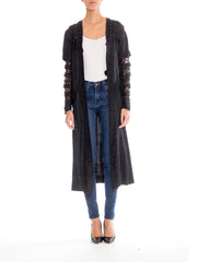 Teens Midweight Silk Jacket with Lace Detail