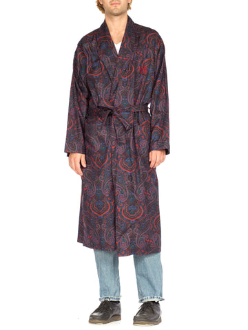 Paisley Cotton Men's Monogrammed Robe