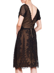 1950s Irene Bullocks Wilshire Sheer Lace Dress