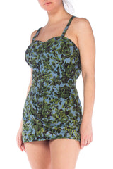 1950s Floral Printed Swimsuit