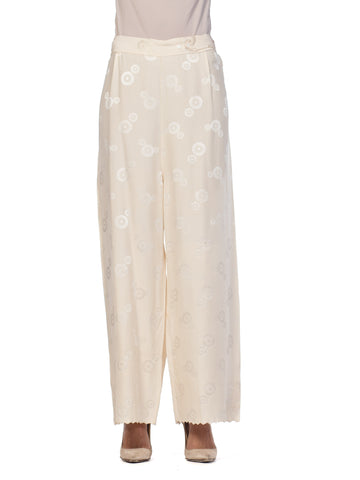 1920s Style Hand Embroidered Silk Chinese Pijama Pants