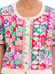 1970s Ethnic Embroidered Top