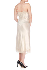 1940s Couture Monogramed Slip