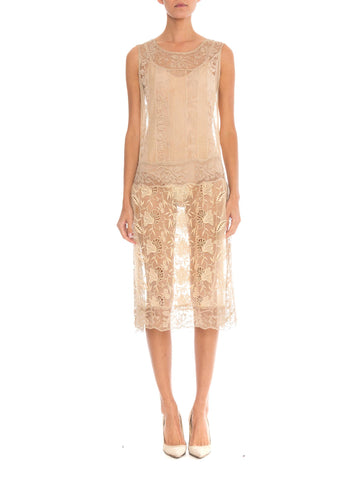 20s Handmade Lace and Embroidered Tea Dress