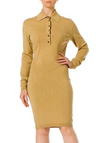 1980s Alaia Jersey Long sleeve Bodycon Dress