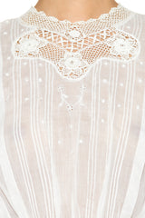 1910s Crochet and Cotton Top