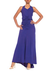 1930s Bias Cut Purple Gown