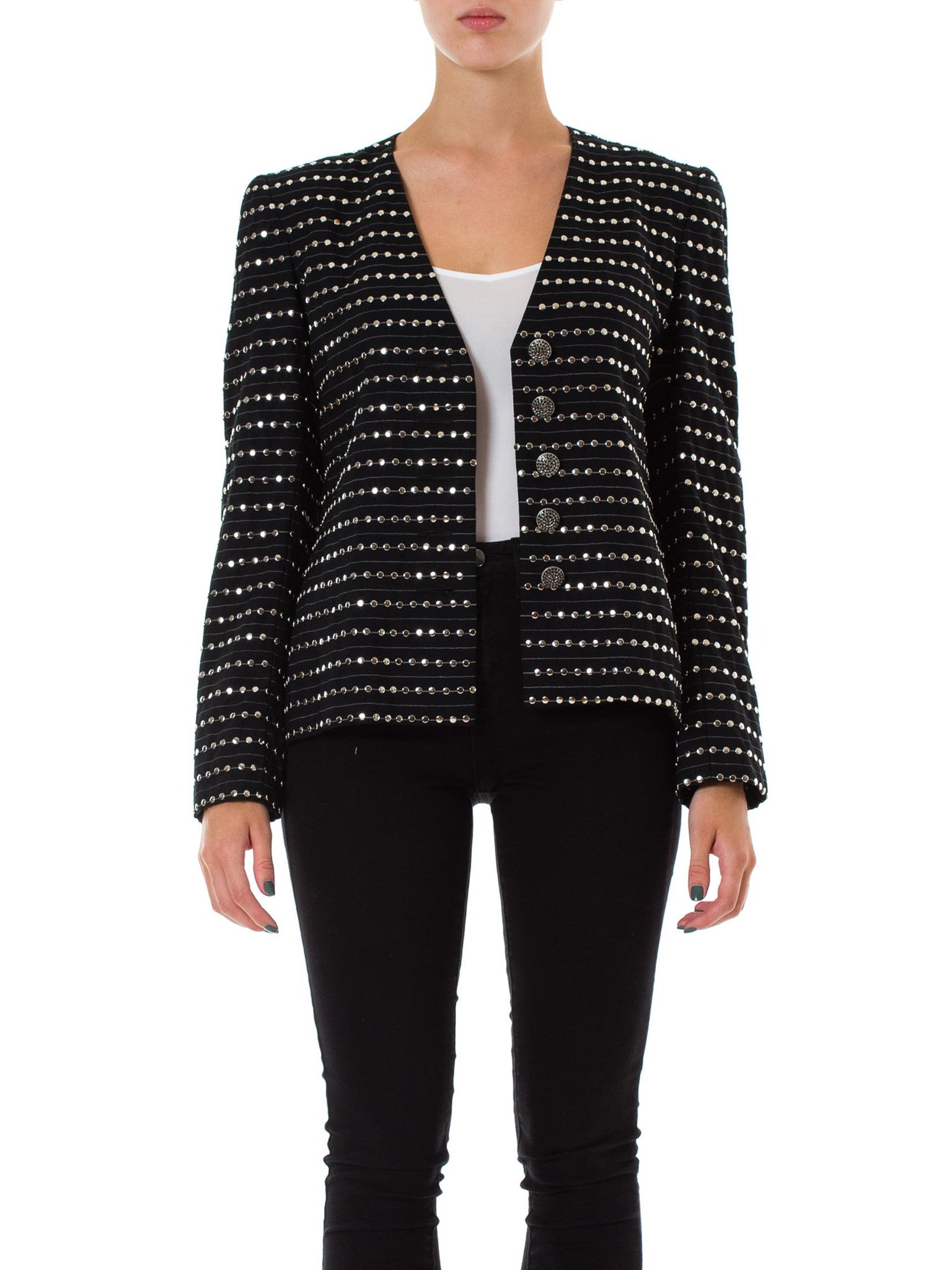 1980s Galanos Metal Studded Jacket
