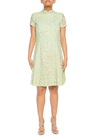 1960s Mint Green Lace Dress