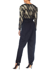 1980s Lurex Gold Disco Jumpsuit