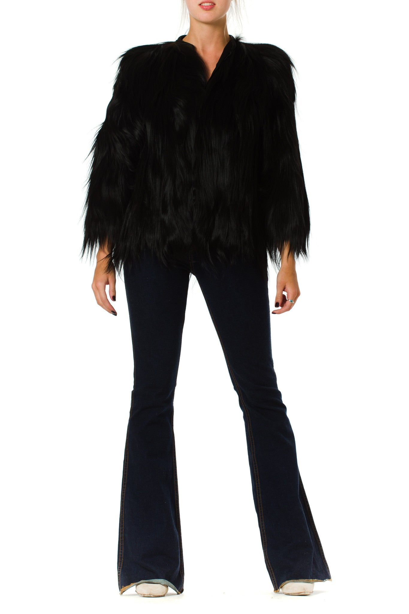 1930S Black Fur Jacket