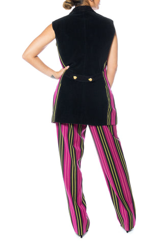 1990S Gianni Versace Vest And Pant Ensemble Set