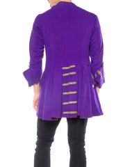 Mens Royal Purple French Military Style Jacket