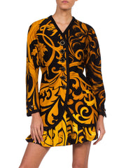 Early 90s Gianni Versace Baroque Silk Shirt & Wool Jacket